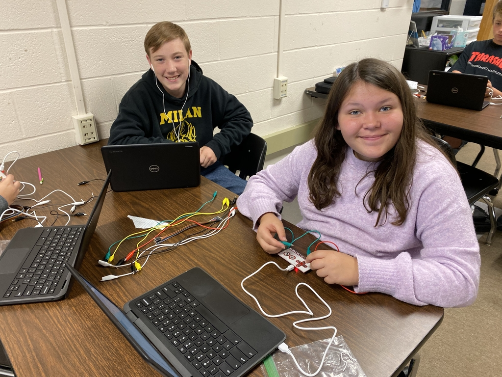 Students working with Makey Makey