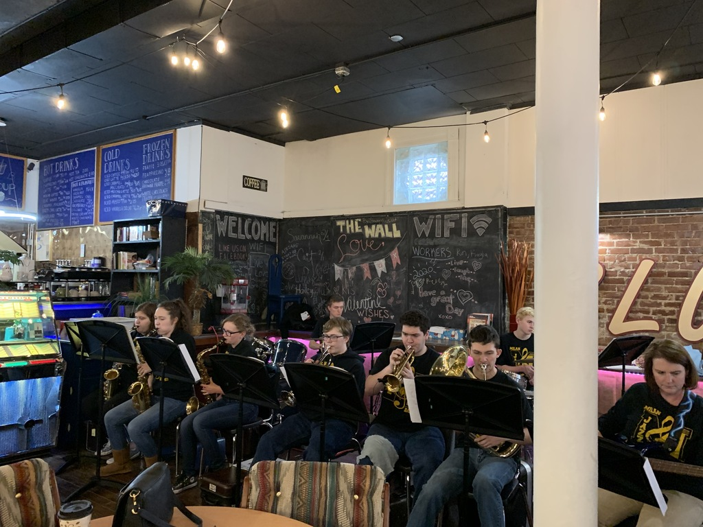 MHS Jazz Band performing at the Blue Olive